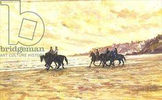 Horses on the Beach, Deauville (oil)