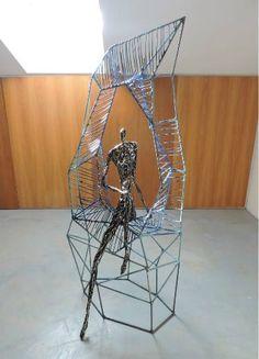 "Saatchi Art Artist Michele Rizzi; Sculpture, ""She explores space/time (strar woman)"" #art"