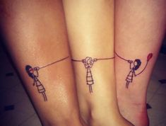 ▷ 1001 + Ideen und Inspirationen für Geschwister Tattoo Motive a tattoo for three sister with wire Telephone on the legs – tattoo on the legs Small Sister Tattoos, Sister Tattoo Designs, Sibling Tattoos, Bff Tattoos, Small Tattoos For Guys, Cool Small Tattoos, Small Wrist Tattoos, Tattoo Designs And Meanings, Tattoos For Daughters
