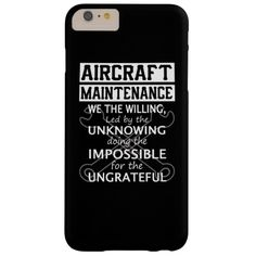Aircraft Maintenance Barely There iPhone 6 Plus Case Iphone 6 Plus Case, Iphone Cases, Aviation Mechanic, Aircraft Maintenance, Clothing Hacks, Unique Photo, 6s Plus, Pilot, Magnets