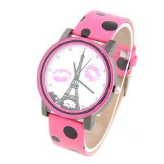 New Arrival! Uroczy Stylowy Zegarek na rękę dla Kobiet ze wzorami w Wieżę Eiffel Pasek ze Skóry PU (Różne Kolory)