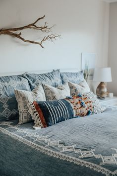 bohemian bedroom ideas with Anthropologie bedding