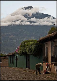 Una calle de Antigua   Guatemala