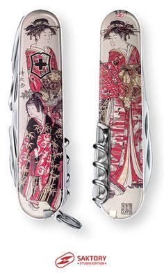 Bugeisha Swiss Army Knife: Saktory Studio Edition, Japanese Geisha Art
