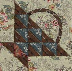 free pdf..block 28 - little blue basket - Quilt 1868 Passion Sampler (Brouage 2013)