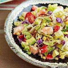 Avocado & Shrimp Chopped Salad   - EatingWell.com. I will cheat & use the Bolthouse Cilantro Avocado Lime Dressing. 40 cal. 2 TBS.