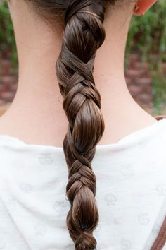French Wrap ponytail.