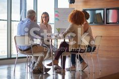 Business team in casual style in real office royalty-free stock photo