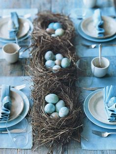 East egg nest centerpiece - by Martha Stewart. Artificial Nests & Eggs ...