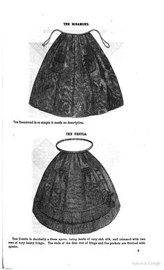 Aprons from Godey's 1861