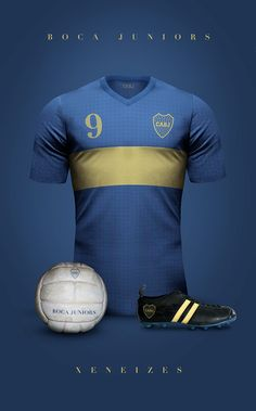 Vintage Clubs II on Behance - Emilio Sansolini - Graphic Design Poster - Boca Juniors - Xeneizes