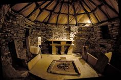 There's a replica house at Skara Brae in Orkney, which helps you imagine what life must have been like for inhabitants of the Neolithic Village, 3000 years ago.