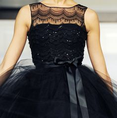 black party dress...