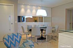 Decoração: 10 salas de jantar com espelhos! - Jeito de Casa - Blog de Decoração