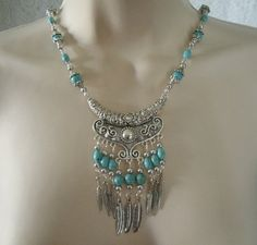 Hey, I found this really awesome Etsy listing at https://www.etsy.com/listing/195666520/feather-necklace-southwestern-jewelry