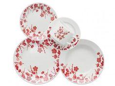 Aparelho de Jantar em Cerâmica 30 Peças - Biona Cerâmica Donna Jardim Oriental