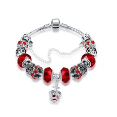 New, Swarovski Elements Royal Crown Jewel Bracelets for Women. Dazzle and delight the eye with these elegant Swarovski Elements Pandora Inspired Bracelets. Embellished with crystals from Swarovski, made to last a lifetime. Pandora Bracelets, Pandora Jewelry, Bangle Bracelets, Silver Bracelets, Ruby Bangles, Pandora Beads, Diamond Bracelets, Crystal Bracelets, Link Bracelets