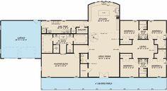 House Plans & Designs   Monster House Plans One Level House Plans, Barn Style House Plans, Family House Plans, New House Plans, Dream House Plans, House Floor Plans, 5 Bedroom House Plans, Modern Farmhouse Plans, Farmhouse Style