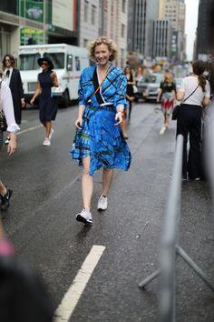 Rain, color, chaos and fashion... welcome back #NYFW!