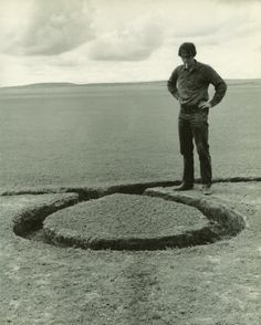 Nine Nevada Depressions: Isolated Mass, Circumflex 1, with Artist- Michael Heizer, 1968.