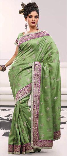 #Green Art #Bhagalpuri #Silk #Saree with Blouse @ $67.23