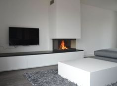 Fireplace and TV concept Living Room Style, Interior Design Living Room, Living Room Wall Units, Fireplace Design, Home And Living, Interior Design, House Interior, Home Deco, Modern Fireplace
