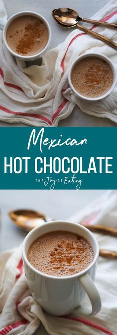 Warm up with a mug of this Mexican hot chocolate, spiced with cinnamon, chiles and maca powder! #hotchocolate #chocolate #winter #vegan