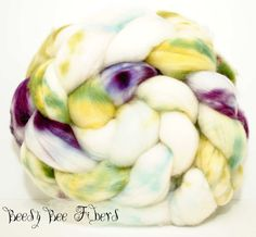 Superwash Merino Lambswool Wool Roving Hand Painted by beesybee Biodegradable Plastic Bags, Biodegradable Products, Plant Fibres, Lavender Sachets, Yarn Needle, Spinning, Fiber, The Incredibles, Hand Painted