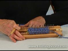 Decrease Stitches on the Knitting Board