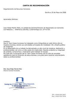 10 Ideas De Derecho Penal Cartas De Recomendacion Formato De Carta Ejemplo De Carta