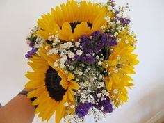 CHALKY'S WORLD: Sunflower Wedding Flowers.