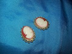 Costume vintage cameo earrings by SarahJVintage on Etsy, £2.50