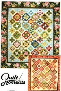 """Kensington Kaleidoscope Quilt Pattern by Quilt Moments at KayeWood.com. Find a fabulous feature fabric and you're on your way to creating a striking star kaleidoscope quilt with simple four-patches, star blocks and strips. Sizes Twin/Nap 71.5"""" x 83"""" and Queen 94"""" x 105.5""""  http://www.kayewood.com/Kensington-Kaleidoscope-Quilt-Pattern-in-2-Sizes-by-Quilt-Moment-QM-KEKA.htm $9.50"""