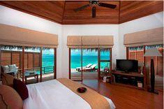 Bedroom with ocean view.  #bedroom #ocean #design