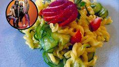 Pasta di mais gluten free con zucchine e fragole alla Steel Panther