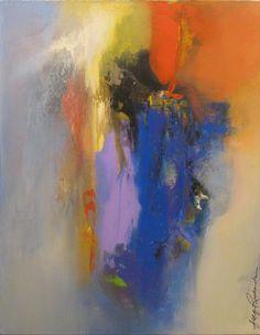 "Joy Richardson - ""Metaphor"" #art #painting #acrylic #abstract #blue #color"