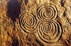 Neolithic spirals, Newgrange, Ireland. This art piece is over 5000 years old   Photo Ken Williams