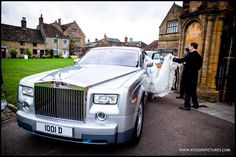 Laura and Dan are travelling in style from Sherborne Abbey after their wedding -