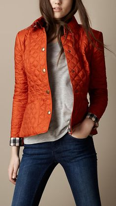 Cropped Quilted Jacket | Burberry
