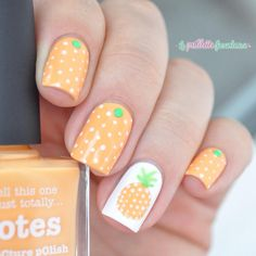 pineapple and polka dots