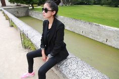 CHICMUSE.COM: frames of life - love the funky sneakers with a formal jacket