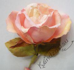 Как сделать бенгальскую розу из фоамирана.