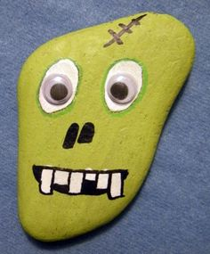 Zombie painted rock....omg...the boyz love these!!!