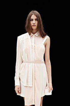 Deconstructed Shirt Dress - creative pattern cutting; contemporary fashion // Dion Lee