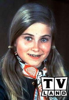 Marsha Brady with braces, from The Brady Bunch (1969 - 1974)