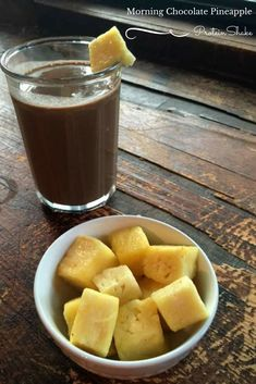 Check out this delicious and easy healthy recipe for a morning chocolate pineapple protein shake sure to get your day off on the right foot