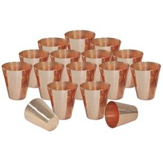 Buy DakshCraft ® Small Solid Copper Moscow Mule Shot Glasses, Capacity 73 ml per tumblers, Set of 16 Online at Low Prices in India - Amazon.in