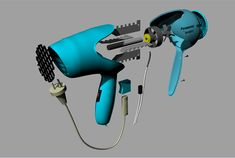3D modeling hair dryer on Behance