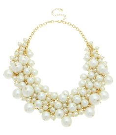 OASIS Pearl Cluster Necklace - Polyvore