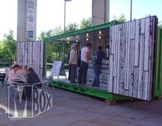 container stores - Buscar con Google Container Bar, Container Coffee Shop, Container Gardening, Shipping Container Restaurant, Shipping Container Homes, Shipping Containers, Starbucks, Shipping Container Conversions, Pop Up Bar